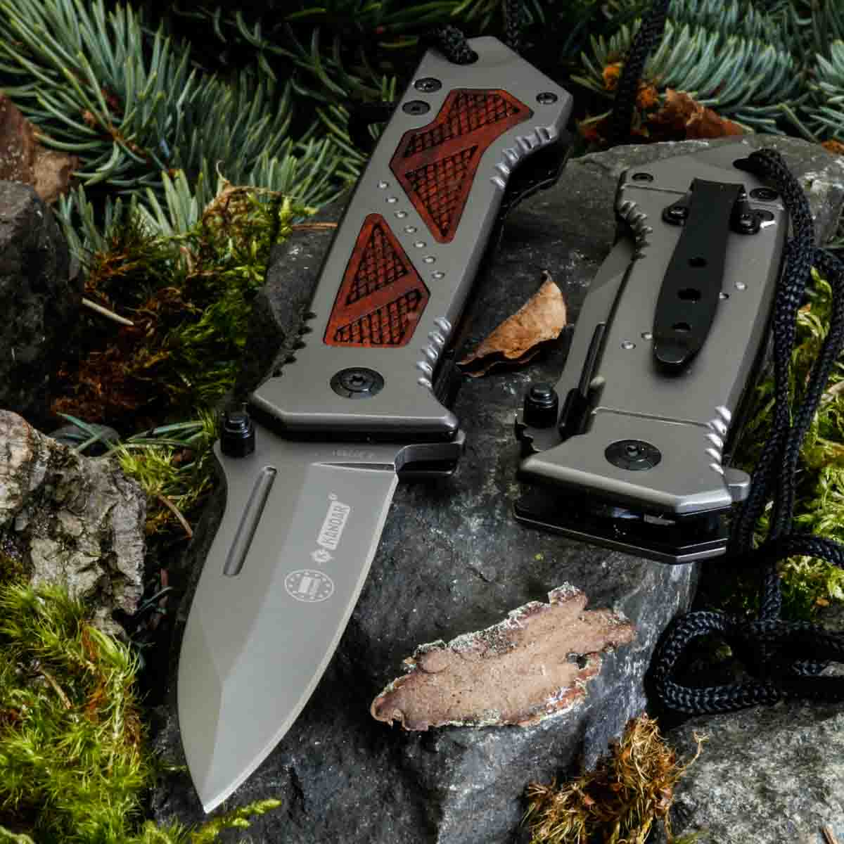 KANDAR 207 WOLF FESTSTEHENDE MESSER JAGDMESSER • 250mm D0
