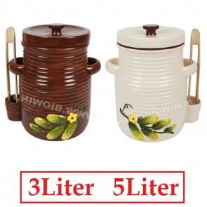 KERAMIKTOPF BIOWIN BRAUN 3,0 Liter