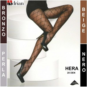 HERA PATTERNED WOMEN TIGHTS PANTYHOSE * 20 DEN * 1/XS - 6/XXL *