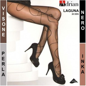 LAGUNA PATTERNED WOMEN TIGHTS PANTYHOSE * 20 DEN * 1/XS - 6/XXL *
