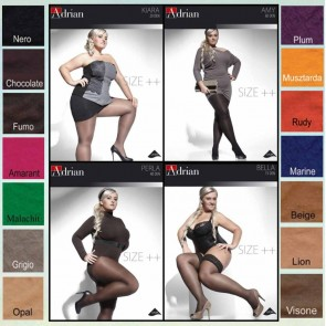 KIARA PANTYHOSE FOR WOMEN WITH CURVY SHAPES * 20 DEN * XL - 4XL