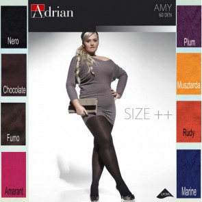 AMY PANTYHOSE FOR WOMEN WITH CURVY SHAPES NEW COLLECTION * 60 DEN * XL-4XL