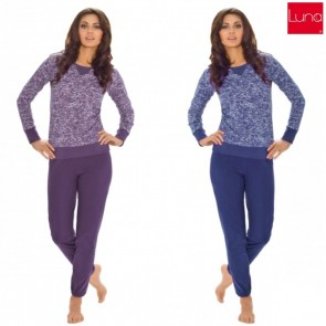 676 LUNA WOMAN PAJAMAS COTTON 100% * S - 3XL *