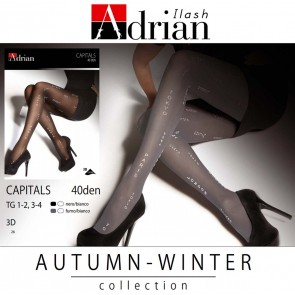 CAPITALS PATTERNED LADIES TIGHTS  * 40 DEN * XS/1 - XXL/6