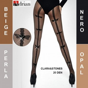 CLARA&STONES ADRIAN LADIES TIGHTS * 20 DEN * 2/S - 6/XL*