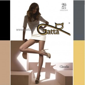 CLAUDIA TRANSPARENT MATT PANTYHOSE FOR WOMEN * 20 DEN * S/2 - XL/5 *