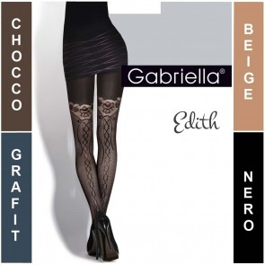 EDITH GABRIELLA PATTERNED LADIES TIGHTS  * 50 DEN * 2/S - 4/L*