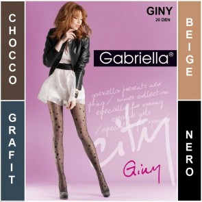 GINY PATTERNED LADIES TIGHTS  * 20 DEN * 2/S - 4/L *