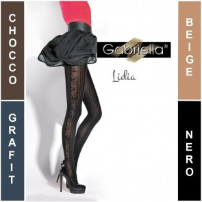 LIDIA GABRIELLA PATTERNED LADIES TIGHTS  * 50 DEN * 2/S - 4/L*