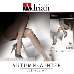 LINE PATTERNED LADIES TIGHTS * 40 DEN * XS/1 - XXL/6