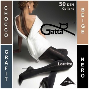 LORETTA 100 GATTA MATT PATTERNED LADIES TIGHTS  * 50 DEN * 2/S - 4/L*