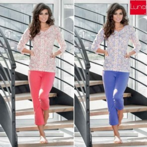 643 LUNA WOMAN PAJAMAS COTTON 100% * S - 3XL *