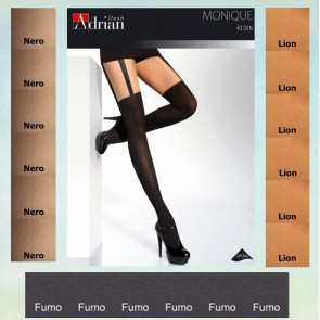 MONIQUE PATTERNED TIGHTS FOR LADIES * NEW COLLECTION * 40/20 DEN * XL - 2XL/6 *