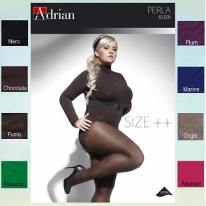 PERLA PANTYHOSE FOR WOMEN WITH CURVY SHAPES * 40 DEN * XL - 4XL