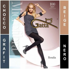 ROSALIA GATTA MATT MICROFIBRA LADIES TIGHTS  * 100 DEN * 2/S - 5/XL*