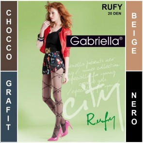 RUFY PATTERNED LADIES TIGHTS  * 20 DEN * 2/S - 4/L *