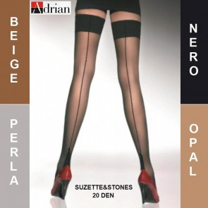 SUZETTE&STONES ADRIAN LADIES STOCKINGS * 20 DEN * 2/S - 6/XL *