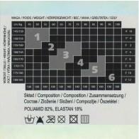 ELLA RAJSTOPY DAMSKIE WZOROWANE *  40/20 DEN * XL/5 - 2XL/6 *