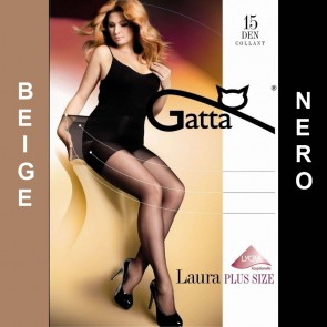 LAURA PLUS SIZE COLLANTS SEMI-MATS TRANSPARENTS * 15 DEN * 1/XS - 6/XXL *