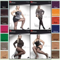 BELLA STOCKINGS FOR WOMEN WITH CURVY SHAPES * 15 DEN * SIZE XL/5 - 4XL/8