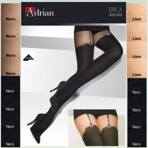 ERICA PATTERNED TIGHTS FOR LADIES * NEW COLLECTION * 40/20 DEN * XL - 2XL/6 *