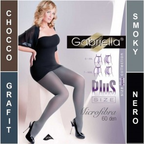 MICROFIBRA PLUS SIZE STOCKINGS FOR WOMEN WITH CURVY SHAPES * 60 DEN * 6/2XL-7/3XL *