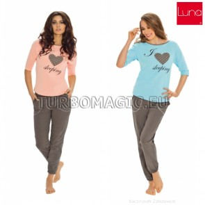501 LUNA WOMAN PAJAMAS COTTON 100% * S - 3XL *