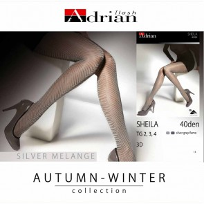 SHEILA PATTERNED LADIES TIGHTS * 40 DEN * XS/1 - 2XL/6
